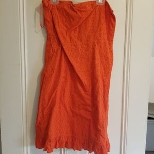 Old Navy Strapless Orange Dress